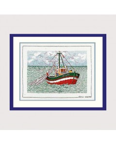 Embroidery kit. Counted cross stitch. A Boat. Le Bonheur des Dames