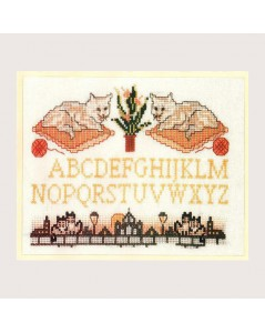 Alphabet two cats. Item 1511. Le Bonheur des Dames