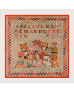 Alphabet Bear Family 1074 Le Bonheur des Dames embroidery kit