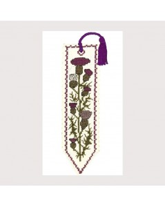 Bookmark kit Scottish Thistle, embroidery kit