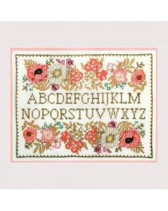 Counted cross stitch embroidery kit. Flower Alphabet. Le Bonheur des Dames