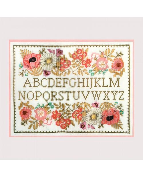 Abecedaire Fleurs Kit Broderie Le Bonheur Des Dames