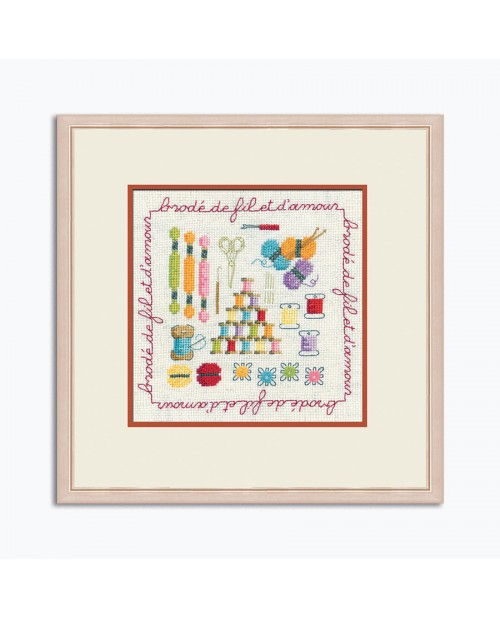 Embroidery kit. Le Bonheur des Dames. Stitched with a thread and with love. Item n° 2278