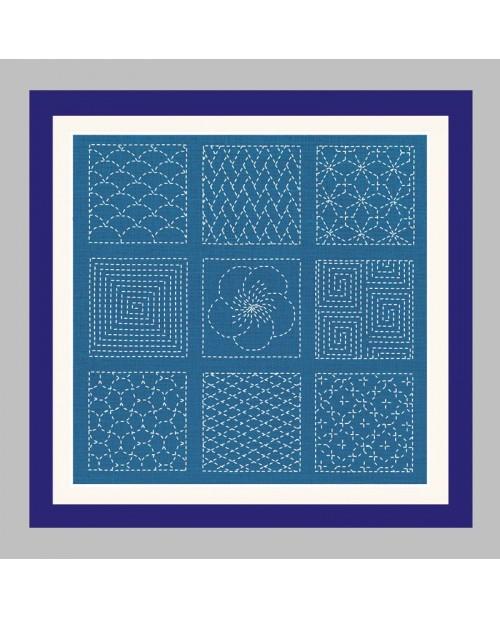 Traditional japanese motive to stitch by sashiko technique. Le Bonheur des Dames