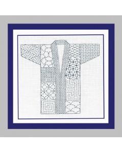Kimono japonais à broder de façon Sashiko. Le Bonheur des Dames