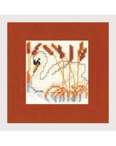 Swan. Counted cross stitch embroidery kit. Textile Heritage.
