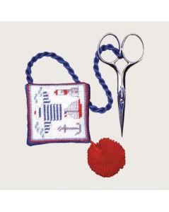 Scissor holder with a seascape sweater. Cross stitch kit. Le Bonheur des Dames