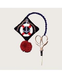 Scissor holder lifebuoy. Counted cross stitch. Le Bonheur des Dames