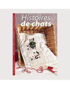 Livre de motifs à broder. Histoires de Chats. Edisaxe