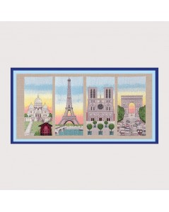 The Monuments of Paris. Counted cross stitch embroidery kits. Item n° 1167. Le Bonheur des Dames