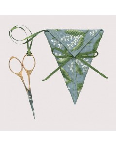 Scissor keep - Lily of the valley. Embroidery kit. Counted cross stitch. 3373 Le Bonheur des Dames