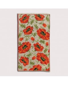Spectacle Case Poppies - counted cross stitch kit. Le Bonheur des Dames. Référence 3233