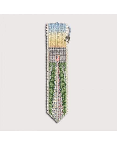 Marque-page à broder au point de croix, point compté - l'Arc de Triomphe. Le Bonheur des Dames, kit n°  4574.