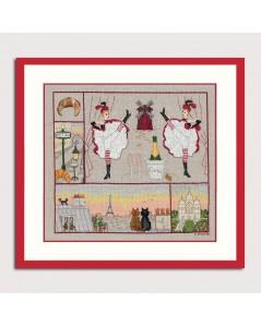 Counted cross stitch embroidery kit. Paris Happiness. Item n° 2669. Le Bonheur des Dames