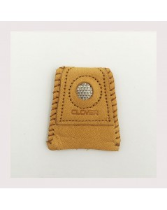Leather thimble with coin dempled disc. Item n° C6016