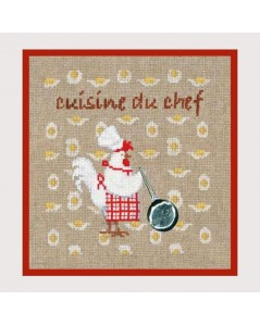 Kitchen's chef. Counted cross stitch kit. Item n° 2721