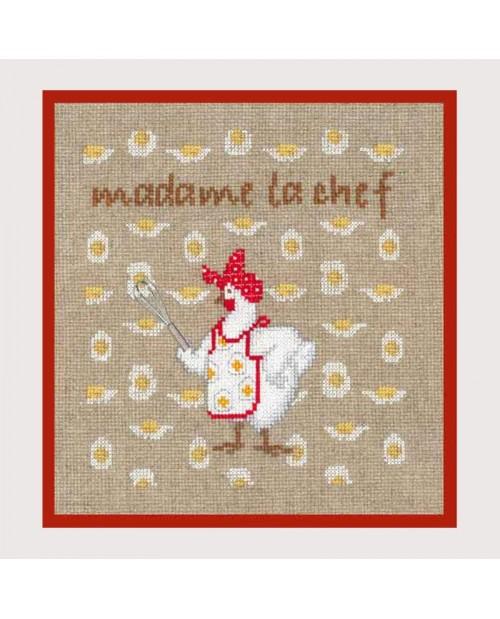 Madam chef. Counted cross stitch kit. Item n°2722. Le Bonheur des Dames