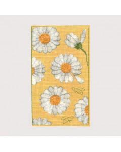 Spectacle case Daisies. Counted cross stitch kits. Item n° 3240. Le Bonheur des Dames