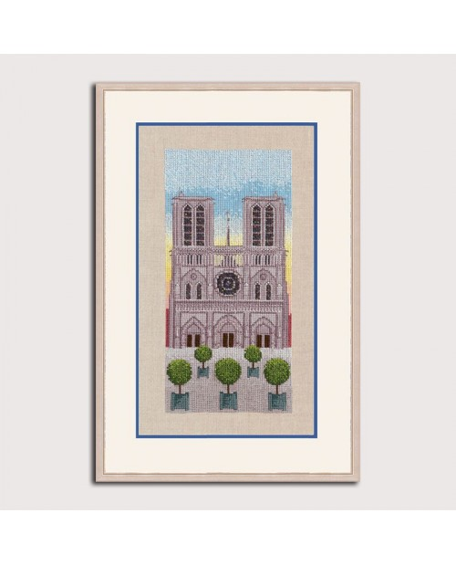 Counted cross stitch embroidery kit. Notre Dames de Paris. Le Bonheur des Dames.