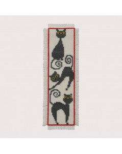 Bookmark Cats. Permin of Copenhagen. Item n° 052103