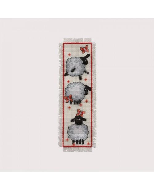 Marque-page Moutons création de Permin of Copenhagen. Référence 052101
