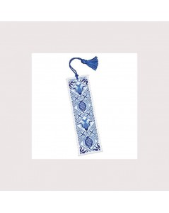 Blue Delft Bookmark, counted cross stitch kit. Textile Heritage