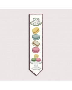 Traditional embroidery bookmark. Macarons. Kit 4712. Le Bonheur des Dames