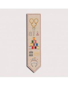 Marque-page Accessoires Couture. Kit broderie traditionnelle, imprimé. Le Bonheur des Dames. n° 4713