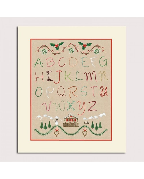 Alphabet Winter. Satin stitch embroidery kit. Le Bonheur des Dames. 2591