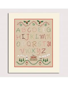 Abécédaire Hiver. Broderie traditionnelle. Kit imprimé. Le Bonheur des Dames. 2591
