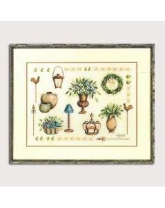 Counted cross stitch kit. Garden accessories. Lanarte
