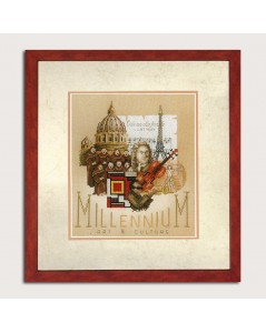 Counted cross stitch embroidery kit. Lanarte. Millenium. Art & Culture.