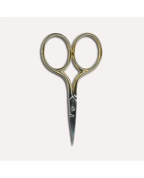 Embroidery scissors, gold color. Size 7 cm with sharp point. Item CI1111. Le Bonheur des Dames.