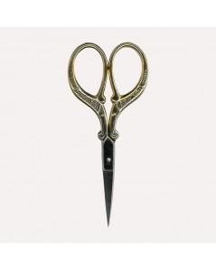 Embroidery scissors, Golden Branches. Size 9 cm with sharp point. Item CI1116. Le Bonheur des Dames.
