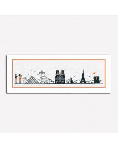 Kit broderie point de croix, point compté. Rive gauche. Monuments de Paris. Le Bonheur des Dames. Référence 1091