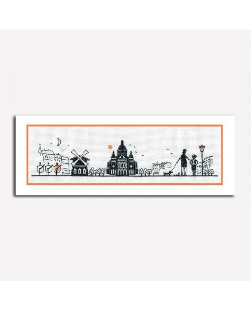 Paris Right Bank. Counted cross stitch embroidery kit. Le Bonheur des Dames. Item n° 1092.