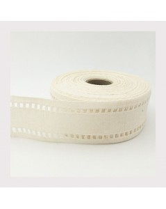 Roll of linen embroidery band, 11 threads/cm, edge open-work, a jour. Le Bonheur des Dames