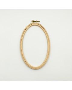 Wooden embroidery hoop oval 11.3 x 19 cm. Le Bonheur des Dames EHO9