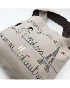 Bag with parisian motive to stitch and to sew. Le Bonheur des Dames. 2913