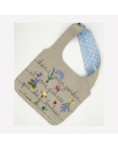 Linen bag to embroider. Traditional embroidery, printed motive. Le Bonheur des Dames. 2911_M