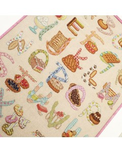 Alphabet gourmand. Cross stitch and petit point embroidery. Pastries, delicacies. Le Bonheur des Dames 1156