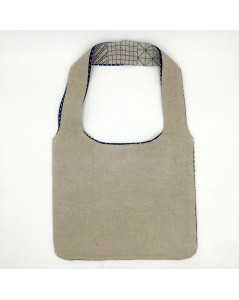 Natural linen handbag to embroider. Reverse side not embroidered. Sashiko style. Le Bonheur des Dames 2916.