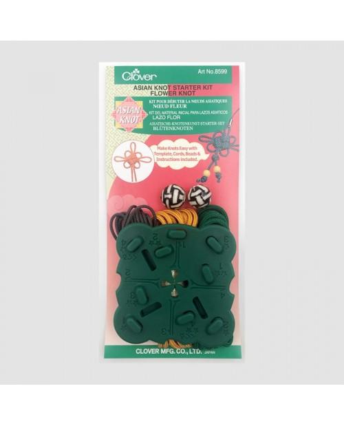 Kit pour débuter les nœuds asiatiques. Nœud fleur. C8599 Clover