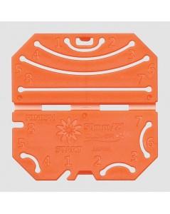 Confectionneur de fleurs outil en plastique orange. Clover C848
