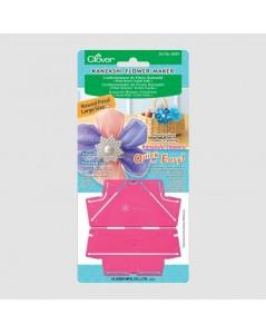 Kanzashi flower maker by Clover, pink plastic. C8481