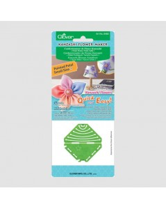 Kanzashi Flower Maker for pointed petals. Made of green plastiq. Clover C8482