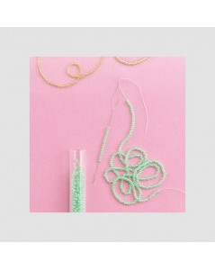 Needles for quick beading. Clover