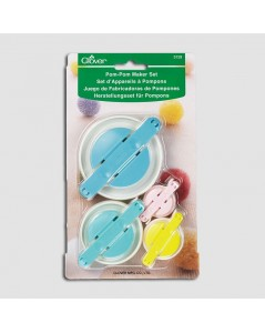 Set of pompom makers of four different sizes. Clover C3129