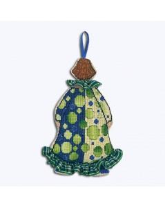 Decorative embroidery. Suspension Madame Clown. Le Bonheur des Dames 2645