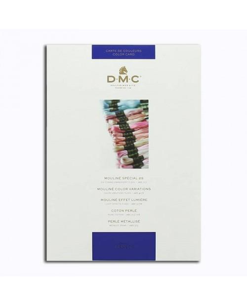 DMC Color catalogue. Samples of DMC threads. W100B. Variation, pearl, metallic, cotton.